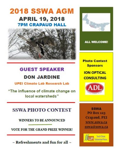 2018 SSWA AGM is April 19th